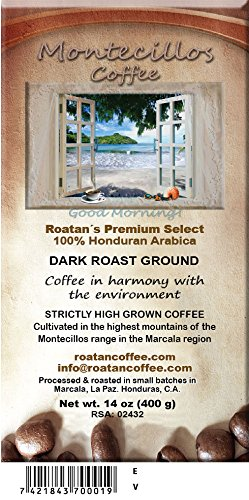 Montecillos Coffee 14 oz Dark Roast Ground