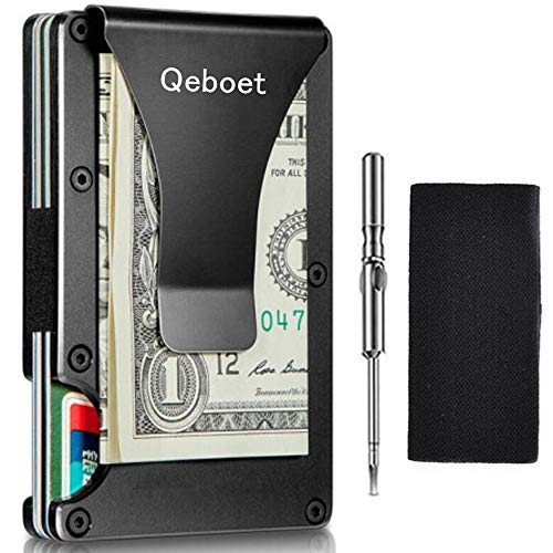 Credit Card Wallet Front Pocket Minimalist Business Credit Card Holder & Wallet Slim Mens Wallet RFID Blocking