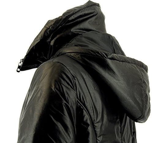 Grande Mi Noir Doudoune Hiver Taille Juliette Longue Charleselie94® Femme Capuche xwqYSOAZ6