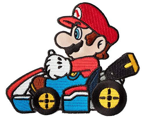 Simplicity 1935085001 Nintendo Mario Kart Applique Clothing Iron On Patch, 3.4'' x 3.9'',