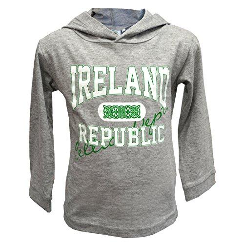 Traditional Craft Grey Ireland Republic Kids Hoodie (9/10 Years)