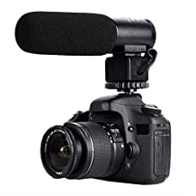 K&F Concept CM-500 Condenser Shotgun Recording Microphone for Canon, Nikon DSLR Cameras and Camcorder (Need 3.5mm Interface)