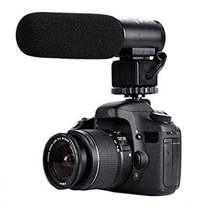 Shotgun Microphone, K& F Concept CM-500 Professional Interview Mic Recording for Nikon Canon DSLR Camera Gopro HERO 4 (Need 3.5mm Interface) FBA_JPKF10.001