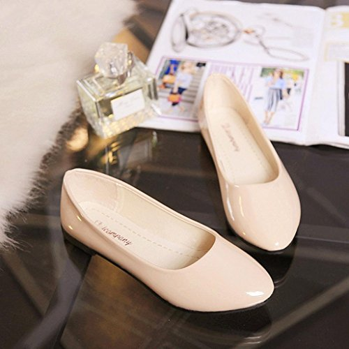 Beige Slip Dames Casual Colores Taille Flat Sandales Chaussures On Hunpta Femmes POF1WO4