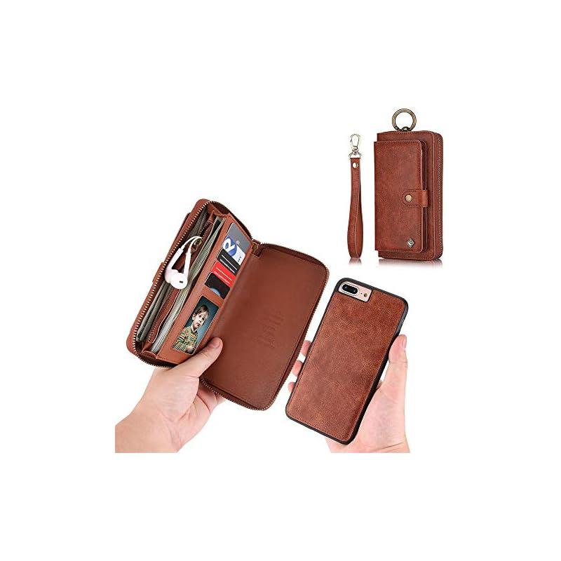 iPhone 7 Plus Wallet Case - JAZ Zipper P