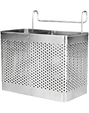 Cubertería soporte, bluesees palillos de acero inoxidable utensilios de cocina escurridor de soporte para la