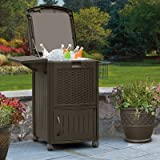 Cabinet Depth Refrigerator Suncast Cooler Station with Cabinet