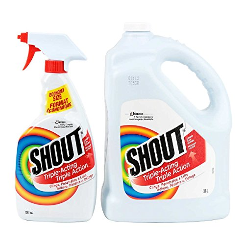 Shout Stain Remover with Extendable Trigger Hose – 3.8 L + 887 ml (Total 158.49 Oz) …