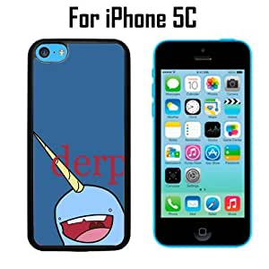 Derp Narwhal Custom Case/ Cover/Skin *NEW* Case for Apple iPhone 5s for you - Black - Plastic Case (Ships from CA) Custom Protective Case , Design Case-ATT Verizon T-mobile Sprint ,Friendly Packaging - Slim Case