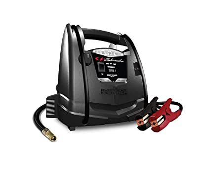 Schumacher SJ1330 1000 Peak Amp Jump Starter and Air Compressor with 12V  USB Portable Power Ports