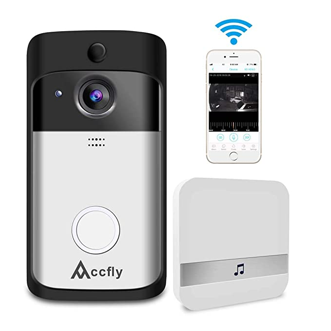 d40ce8e30e7 Image Unavailable. Image not available for. Colour  Video Doorbell Smart  Wireless Home WiFi Security Camera Indoor Chime 2-Way Talk ...