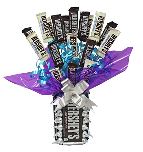 Bouquet Candy Well Soon - Hershey Chocolate Candy Bouquet | Birthday | Congratulations | Anniversary | Apology