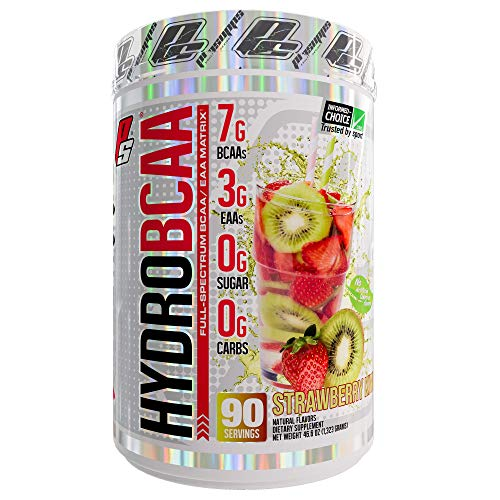 (ProSupps HydroBCAA BCAA/EAA Full Spectrum Matrix, 7g BCAAs, 3g EAAs, 0g Sugar, 0g Carbs, 90 Servings, (Strawberry Kiwi Flavor))