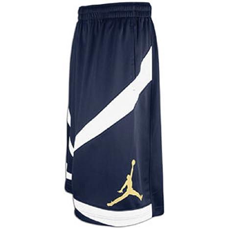 d28ef7430208 Nike Air Jordan Triangle Triumph Basketball Short Obsidian White Gold  452286-455  Amazon.ca  Luggage   Bags