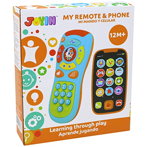 My Learning Remote and Phone Bundle with Music, Fun, Smartphone Toys for Baby, Infants, Kids, Boys or Girls Birthday…