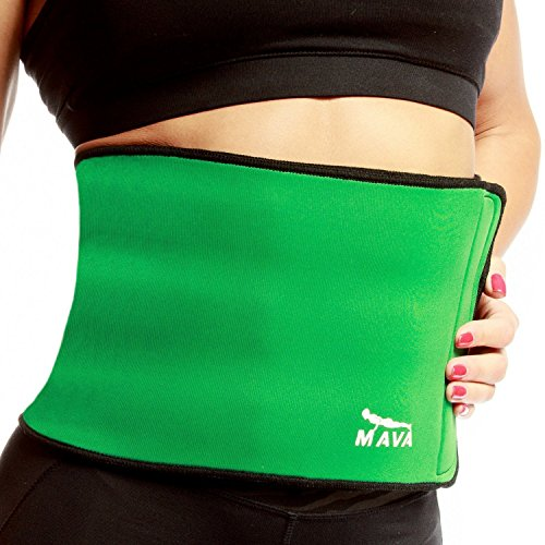 Wear Cinch Belt (Mava Sports Colorful Waist Trimmer – Weight Loss Wrap and Exercise Enhancer for Tight Abs – Provides Back Lumbar Support While Burning Belly Fat – Fully Adjustable – Gym Wear)