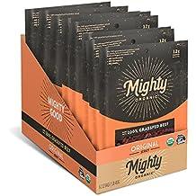 Mighty Organic 100% Grass Fed Beef Jerky, Gluten Free Snack, Original, 2 oz (Pack of 8)