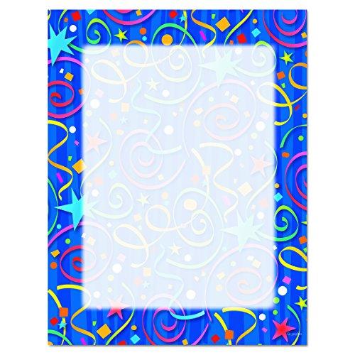 Geographics Design Paper, Stars & Confetti, 24 lb, 8.5 x 11 Inches, 100 Sheets Per Pack (46901)