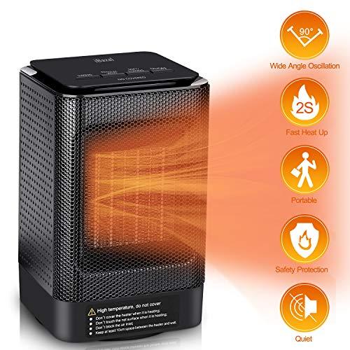 Ibazal Ceramic Space Heater Portable Oscillating Electric