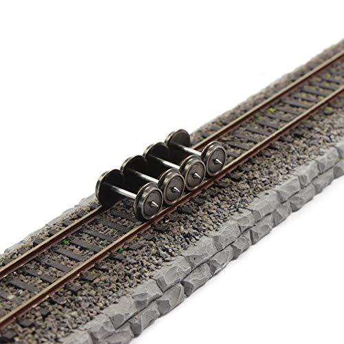 - HP0387 24 PCS 36'' Metal Wheels for Model Train 1:87 HO Scale AC Wheel Set Model Building kit DIY Accessories
