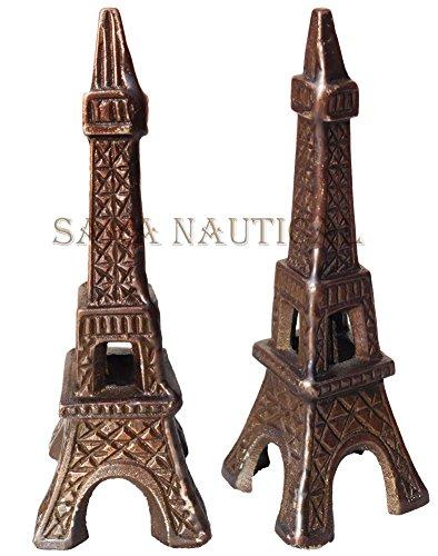 Antique PARIS EIFFEL TOWER 7'' Vintage Model Nautical Decorative Item Replica by Sara Nautical