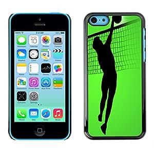 - Volleyball - - Monedero pared Design Premium cuero del tir¨®n magn¨¦tico delgado del caso de la cubierta pata de ca FOR Apple iPhone 5C Funny House