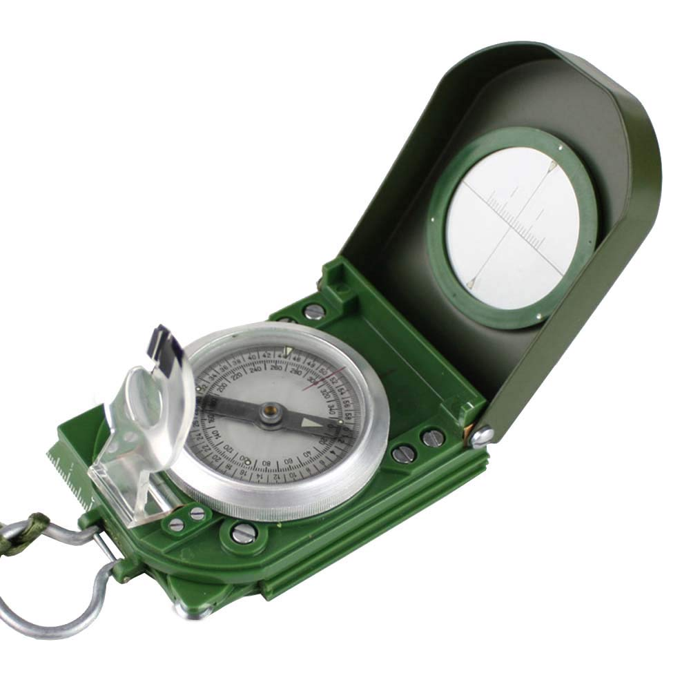 JXS-Compass Brújula estándar Militar, navegación sólida con Brújula sólida con sólida una precisión de hasta el 5%, precisión de hasta ± 1 °, Bolsa de Cuero portátil 0e3e8e