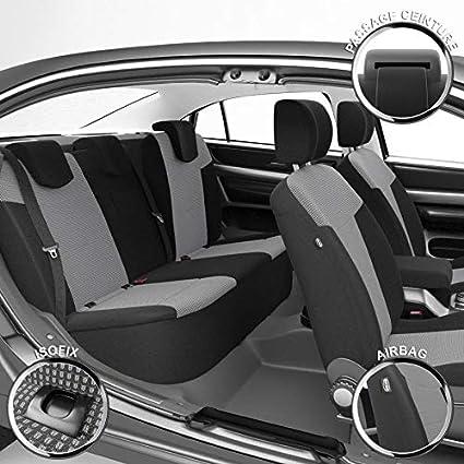 Isofix Montage Rapide Sur Mesure Finition Haut de Gamme Compatible Airbag DBS 19467 Housse de si/ège Auto // Voiture