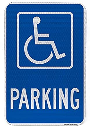 Personas con Discapacidad señal de prohibido aparcar. 3 m ...