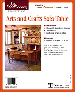 Fine Woodworking S Arts And Crafts Sofa Table Plan Fine Woodworking