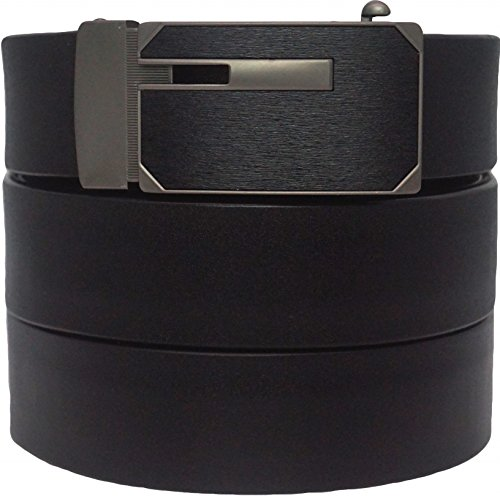 West+Leathers+Men%27s+Top+Grain+Leather+Belts+Solid+Buckle+Automatic+Ratchet+Dress+Belt+Size+38+Style+5