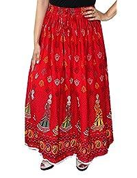 Maple Clothing Block Printed Cotton Long Skirt Women Indian Apparel