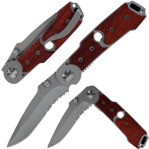 Whetstone Cutlery Deluxe Folding Knife with Wood Handle