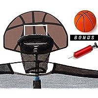 Trampoline Basketball Hoop Ring Backboard Ball Set Fits 10/12/14/15/16 ft
