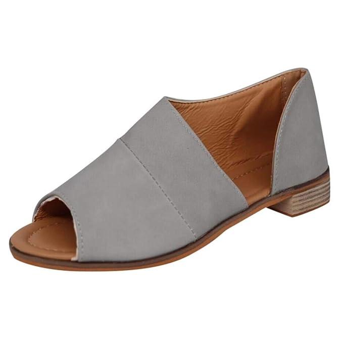 Sandalias Mujer Planas Verano 2019 EUZeo Sandalias Romanas Mujer Juanetes Chanclas Hawaianas Plataformas Zapatos Tacon Cuña Zapatillas Fiesta Playa Casual ...