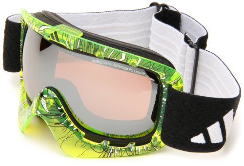 adidas Id2 A162-50-6067 Shield Sunglasses,Transparent Yellow Print Frame/LST Active Silver Lens,One Size