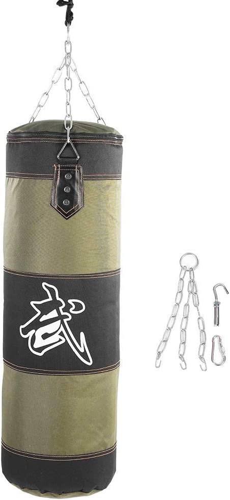 OKBY Kick SandBag - Entrenamiento vacío Boxeo Hook Kick Sandbag Fight Karate Punch Punching Sand Bag Sandbag Home Exercise(0.8m-Verde)
