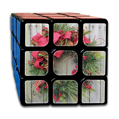 Speed Cube Christmas Wreath Decorating Creative 3 X 3 Magic Cube For Kids -