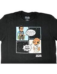 Star Wars Celebration Orlando 2017 Lando Calrissian and Admiral Ackbar T-Shirt (Large)
