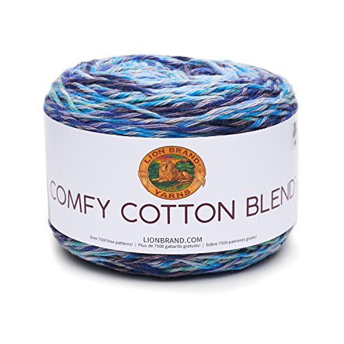 Lion Brand Yarn 756-709 Comfy Cotton Blend Yarn, Ocean (Yarns Cotton Yarn)