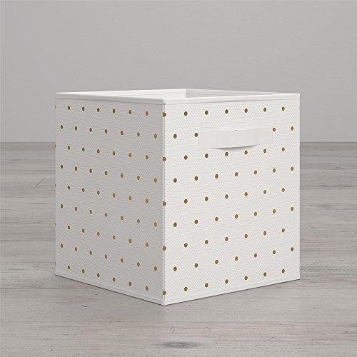 Dot Polka Storage - Little Seeds Polka Dot Print Bin, Gold