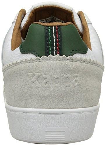 Kappa Dirka Herren Sneaker Weiß - Blanc (White/Dark Green)