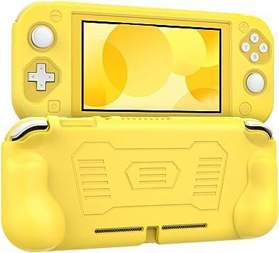MoKo Funda Compatible con Nintendo Switch Lite, Cubierta Protectora de Silicona con Mango Rellenos Integrados de Diseño Ergonómico Durable Cómodo para Nintendo Switch Lite 2019 – Amarillo: Amazon.es: Electrónica