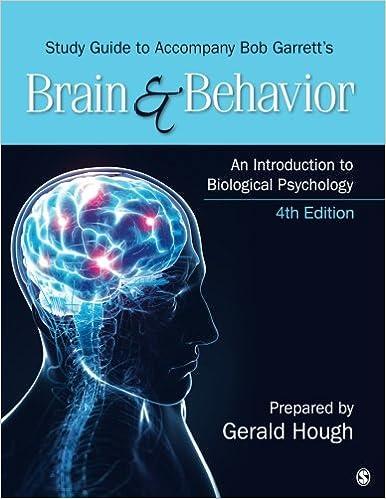 Study Guide To Accompany Bob Garrett S Brain Behavior An
