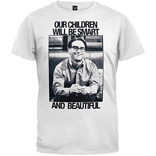 Big Bang Theory - Mens Smart And Beautiful T-shirt Large White OG Exclusive