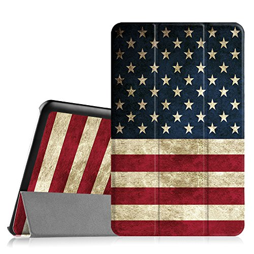 Fintie Samsung Galaxy Tab E 9.6 Case - Slim Lightweight Stand Cover for Tab E Wi-Fi / Tab E Nook / Tab E Verizon 9.6-Inch Tablet (Fit All Versions SM-T560 / T561 / T565 / T567V), US Flag