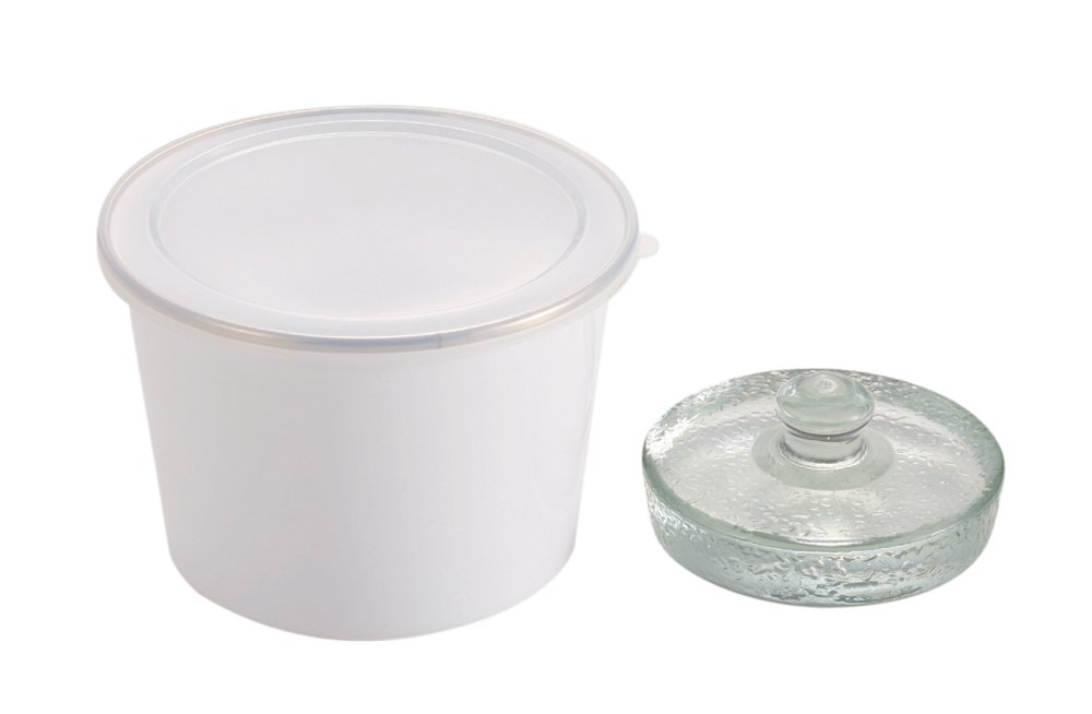 Parukinzoku Sutairisu enamel pickled container 14cm white H8806
