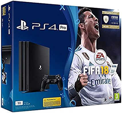 Ps4 Pro 1tb + Fifa 18 + Ps Plus 14 Days: Amazon.es: Videojuegos