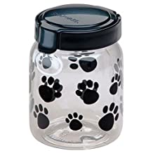 Snapware Pet Canister 4.2 Cup Black Paw