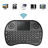 Bestdeal 2.4GHz Mini Mobile Wireless Keyboard with Touchpad Mouse, Rechargable Li-ion Battery for LG Smart TV 32LF5800 & 28LF491U & 55EA975V & 55UF6450 & 65UF6450 & 49LF5100